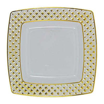 Dinner Plates and Salad Plate – Gold