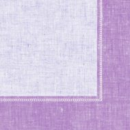 Lilac Border Dinner Napkin
