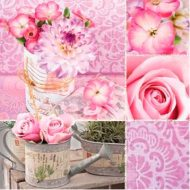 Rosa Floral Collage