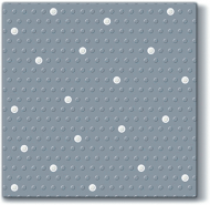 inspiration Dots Spots Silver/White