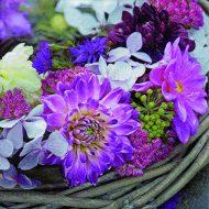 Flores Purpura En Guirnalda