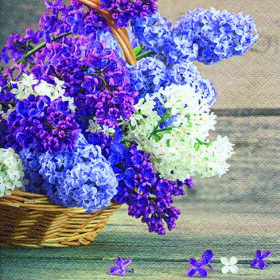 Panier De Fleurs Lilas