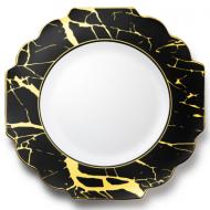 10.75″ Dinner plates marble
